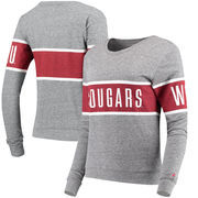 Washington State Cougars League Women's Intramural Long Sleeve Tri-Blend T-Shirt - Heathered Gray