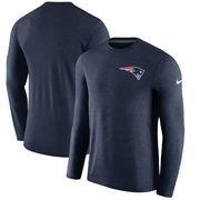 New England Patriots Nike Sideline Coaches Long Sleeve Performance T-Shirt - Navy