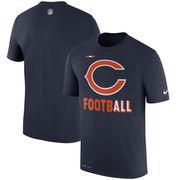 Chicago Bears Nike Sideline Legend Football Performance T-Shirt - Navy