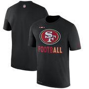 San Francisco 49ers Nike Sideline Legend Football Performance T-Shirt - Black