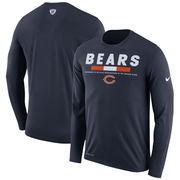 Chicago Bears Nike Sideline Legend Staff Performance Long Sleeve T-Shirt - Navy