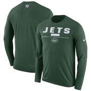 New York Jets Nike Sideline Legend Staff Performance Long Sleeve T-Shirt - Green