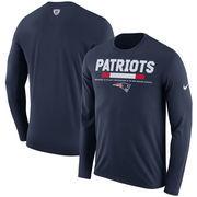 New England Patriots Nike Sideline Legend Staff Performance Long Sleeve T-Shirt - Navy