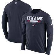Houston Texans Nike Sideline Legend Staff Performance Long Sleeve T-Shirt - Navy