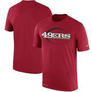 San Francisco 49ers Nike Legend Icon Logo Performance T-Shirt - Scarlet
