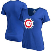 Chicago Cubs Fanatics Branded Women's Plus Size Cooperstown Collection Forbes V-Neck T-Shirt - Royal