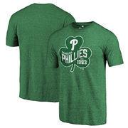 Philadelphia Phillies Fanatics Branded St. Patrick's Day Paddy's Pride Tri-Blend T-Shirt - Kelly Green