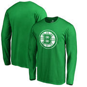Boston Bruins Fanatics Branded St. Patrick's Day White Logo Long Sleeve T-Shirt - Kelly Green
