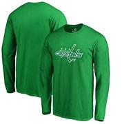 Washington Capitals Fanatics Branded St. Patrick's Day White Logo Long Sleeve T-Shirt - Kelly Green