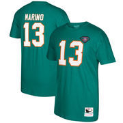 Dan Marino Miami Dolphins Mitchell & Ness Retired Player Name & Number T-Shirt - Aqua