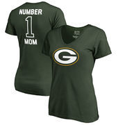Green Bay Packers NFL Pro Line by Fanatics Branded Women's Plus Sizes Number One Mom T-Shirt - Green