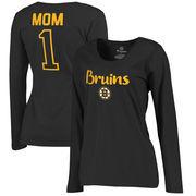 Boston Bruins Fanatics Branded Women's Number 1 Mom Long Sleeve T-Shirt - Black