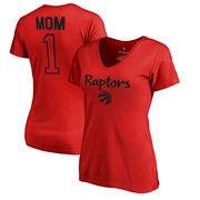 Toronto Raptors Fanatics Branded Women's Number 1 Mom T-Shirt - Red