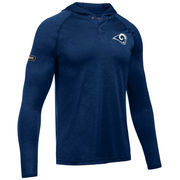 Los Angeles Rams Under Armour Combine Authentic Hooded Novelty Tech Twist Performance Long Sleeve T-Shirt - Navy