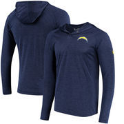 Los Angeles Chargers Under Armour Combine Authentic Hooded Novelty Tech Twist Performance Long Sleeve T-Shirt - Navy