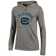 Cal Bears Under Armour Women's Space Tri-Blend Hooded Long Sleeve T-Shirt - Heather Gray