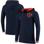 Chicago Bears Mitchell & Ness Seal the Win Hooded Long Sleeve T-Shirt – Heathered Navy