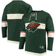 Minnesota Wild Fanatics Branded Breakaway Lace Up Pullover Sweatshirt - Green