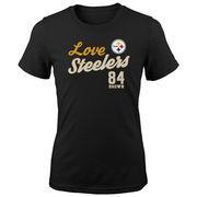 Antonio Brown Pittsburgh Steelers Girls Preschool Glitter Live Love Team Player Name & Number T-Shirt - Black