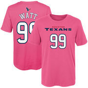 J.J. Watt Houston Texans Girls Preschool Mainliner Name & Number T-Shirt - Pink
