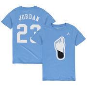 Michael Jordan #23 North Carolina Tar Heels Nike Youth Name & Number T-Shirt – Carolina Blue