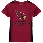 Arizona Cardinals NFL Pro Line by Fanatics Branded Youth Team Lockup Colorblock T-Shirt - Cardinal/Black