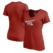 Arkansas Razorbacks Fanatics Branded Women's Plus Sizes Team Mom T-Shirt - Cardinal