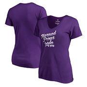 TCU Horned Frogs Fanatics Branded Women's Plus Sizes Team Mom T-Shirt - Purple