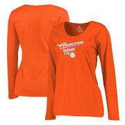 Clemson Tigers Fanatics Branded Women's Plus Sizes Team Mom Long Sleeve T-Shirt - Orange