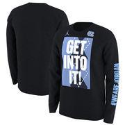 North Carolina Tar Heels Nike Basketball Mentality Bench Legend Long Sleeve Performance T-Shirt - Black