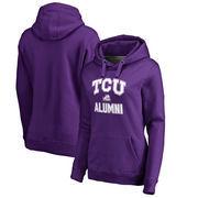 TCU Horned Frogs Fanatics Branded Women's Plus Sizes Team Alumni Pullover Hoodie - Purple