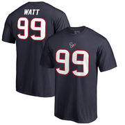 J.J. Watt Houston Texans NFL Pro Line by Fanatics Branded Big & Tall Authentic Stack Name & Number T-Shirt - Navy