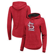 St. Louis Cardinals Fanatics Branded Women's Distressed Team Speckled Pullover Hoodie - Red