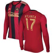 Atlanta United FC adidas 2017 5-Stripe Atlanta Supporter Primary Authentic Long Sleeve Jersey - Black