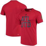 Atlanta United FC adidas Alternate Logo Ultimate Jersey Hook climalite T-Shirt - Red