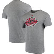 NC State Wolfpack adidas 125 Years of Football Tri-Blend T-Shirt - Heathered Gray