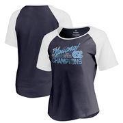 North Carolina Tar Heels Fanatics Branded Women's 2017 NCAA Men's Basketball National Champions Altadena Raglan T-Shirt - Navy/W