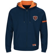 Chicago Bears Majestic Big & Tall Anchor Point Team Logo Full-Zip Hoodie - Navy