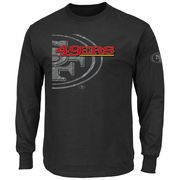 San Francisco 49ers Majestic Big & Tall Elite Reflective Long Sleeve T-Shirt - Black