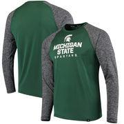 Michigan State Spartans Fanatics Branded Static Raglan Long Sleeve T-Shirt - Green/Charcoal