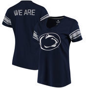 Penn State Nittany Lions Fanatics Branded Women's Iconic Mesh Sleeve Jersey T-Shirt - Navy