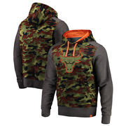 Chicago Bulls Fanatics Branded Recon Camo Pullover Hoodie – Olive/Heathered Gray