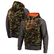 Cleveland Cavaliers Fanatics Branded Recon Camo Pullover Hoodie – Olive/Heathered Gray