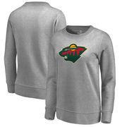 Minnesota Wild Fanatics Branded Women's Primary Logo Pullover Sweatshirt - Ash