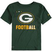 Green Bay Packers Nike Preschool Legend Football Performance T-Shirt - Green