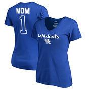 Kentucky Wildcats Fanatics Branded Women's Plus Sizes Number 1 Mom V-Neck T-Shirt - Royal