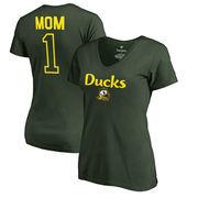 Oregon Ducks Fanatics Branded Women's Plus Sizes Number 1 Mom V-Neck T-Shirt - Green