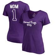 TCU Horned Frogs Fanatics Branded Women's Plus Sizes Number 1 Mom V-Neck T-Shirt - Purple