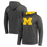 Michigan Wolverines Fanatics Branded Primary Logo Pullover Hoodie - Charcoal