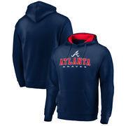 Atlanta Braves Fanatics Branded Big & Tall Block Lineup Zone Fleece Pullover Hoodie - Navy